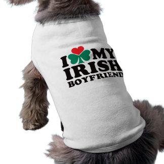 Amo a mi novio irlandés camiseta de perro