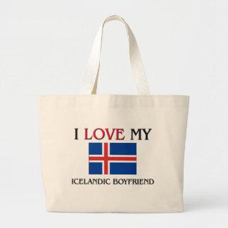 Amo a mi novio islandés bolsa de mano
