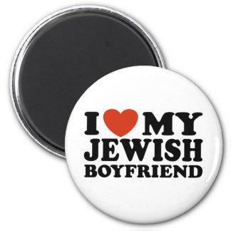Amo a mi novio judío imán redondo 5 cm