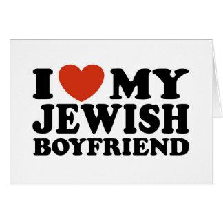 Amo a mi novio judío tarjeta de felicitación