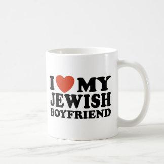 Amo a mi novio judío taza