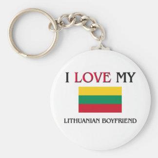 Amo a mi novio lituano llaveros personalizados