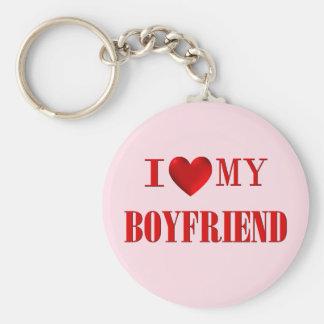 Amo a mi novio llaveros personalizados