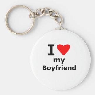 Amo a mi novio llavero redondo tipo pin