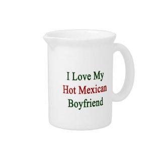 Amo a mi novio mexicano caliente jarras de beber