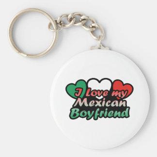 Amo a mi novio mexicano llavero redondo tipo pin