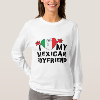 Amo a mi novio mexicano playera