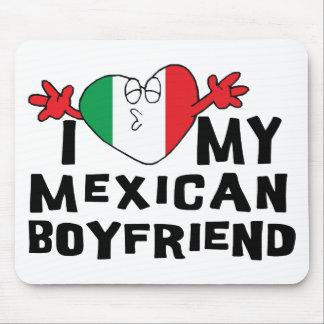 Amo a mi novio mexicano tapete de raton