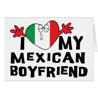 Amo a mi novio mexicano tarjeta de felicitación