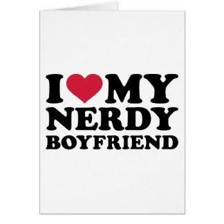 Amo a mi novio nerdy tarjeton