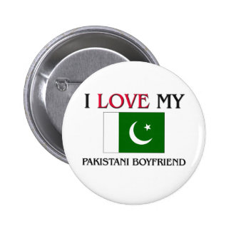 Amo a mi novio paquistaní pin redondo de 2 pulgadas