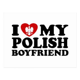 Amo a mi novio polaco tarjetas postales