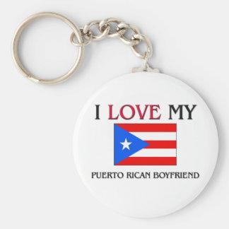 Amo a mi novio puertorriqueño llavero personalizado