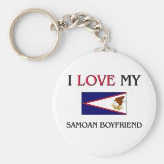 Amo a mi novio samoano llavero personalizado