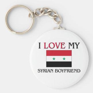 Amo a mi novio sirio llaveros personalizados