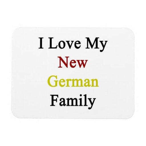 Amo a mi nueva familia alemana imanes rectangulares