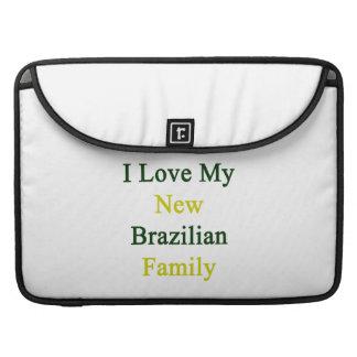 Amo a mi nueva familia brasileña fundas para macbooks