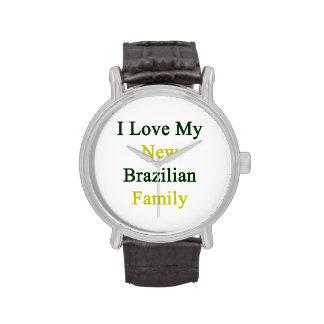 Amo a mi nueva familia brasileña relojes de pulsera