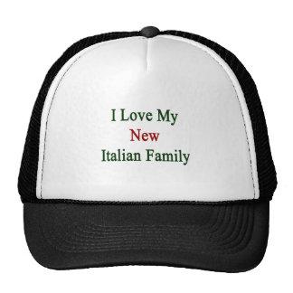 Amo a mi nueva familia italiana gorro de camionero