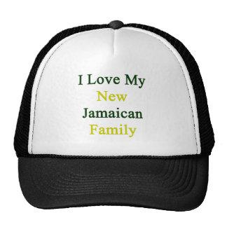 Amo a mi nueva familia jamaicana gorros