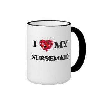 Amo a mi Nursemaid Taza De Dos Colores