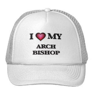 Amo a mi obispo del arco gorras