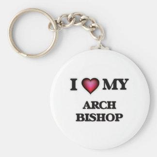 Amo a mi obispo del arco llavero redondo tipo pin