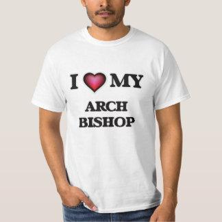 Amo a mi obispo del arco playeras