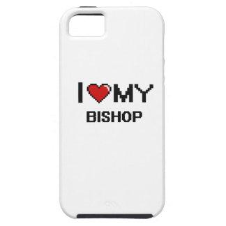 Amo a mi obispo iPhone 5 carcasas
