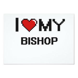 Amo a mi obispo invitación 12,7 x 17,8 cm