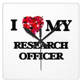 Amo a mi oficial de la investigación reloj cuadrado