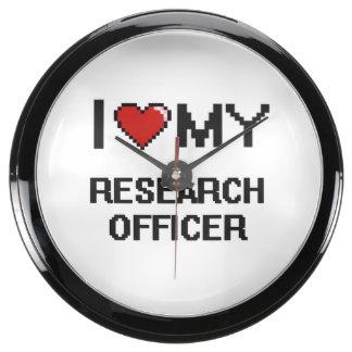 Amo a mi oficial de la investigación relojes acuario