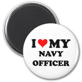 Amo a mi oficial de la marina de guerra imanes de nevera