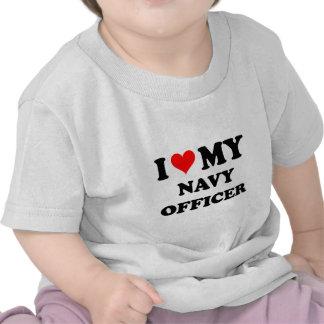 Amo a mi oficial de la marina de guerra camiseta