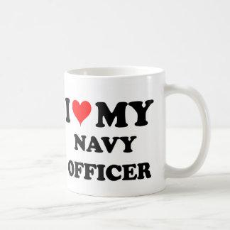 Amo a mi oficial de la marina de guerra tazas de café