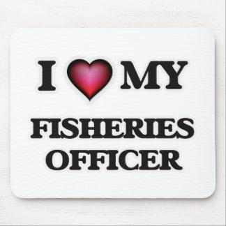 Amo a mi oficial de las industrias pesqueras alfombrillas de ratones