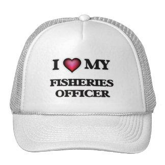 Amo a mi oficial de las industrias pesqueras gorro de camionero