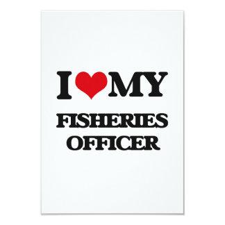 """Amo a mi oficial de las industrias pesqueras invitación 3.5"""" x 5"""""""