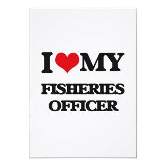 """Amo a mi oficial de las industrias pesqueras invitación 5"""" x 7"""""""