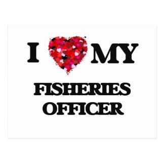 Amo a mi oficial de las industrias pesqueras postales