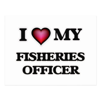 Amo a mi oficial de las industrias pesqueras tarjetas postales