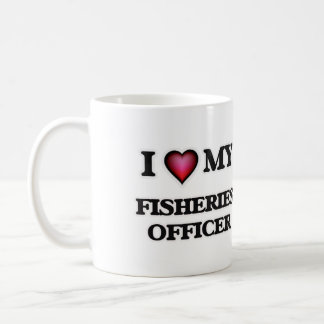 Amo a mi oficial de las industrias pesqueras taza clásica