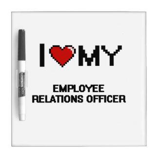 Amo a mi oficial de las relaciones de empleado pizarras