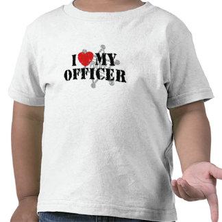 Amo a mi oficial de policía camiseta