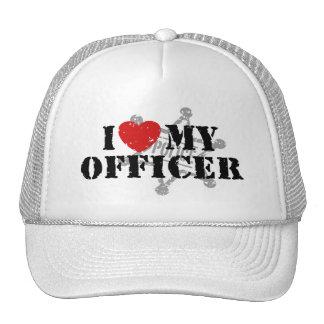 Amo a mi oficial de policía gorras