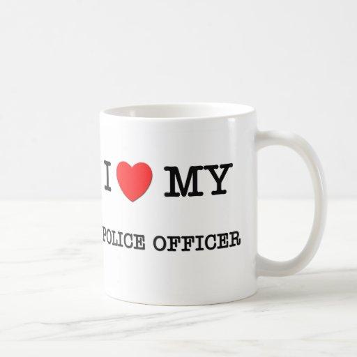 Amo a mi OFICIAL DE POLICÍA Taza De Café