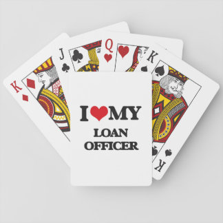 Amo a mi oficial de préstamo barajas de cartas