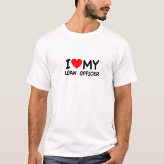 Amo a mi oficial de préstamo playera