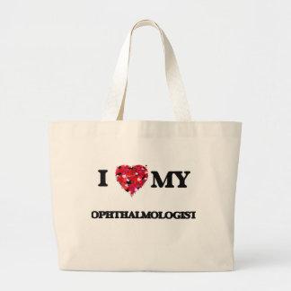 Amo a mi oftalmólogo bolsa tela grande