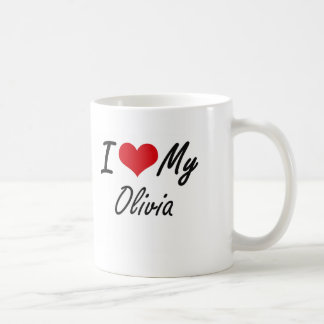 Amo a mi Olivia Taza De Café